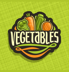 Logo for fresh vegetables vector