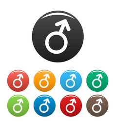 male gender symbol icons set simple vector image
