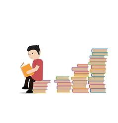 Man reading a book vector