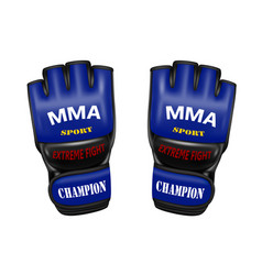 Mixed martial arts gloves in vector