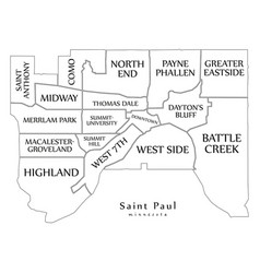 Modern city map - saint paul minnesota city of vector