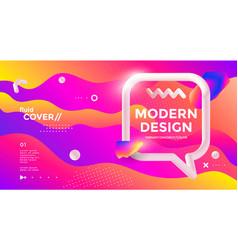 Modern design poster with 3d flow shape vector