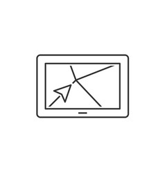navigator outline icon vector image