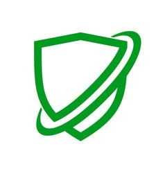 Network protection shield symbol design vector