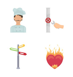 Pain kitchen profession and other web icon in vector