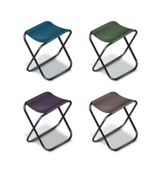 picnic folding chairs vector image
