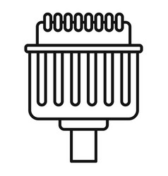 Pins adapter icon outline style vector
