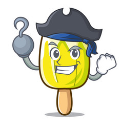 Pirate lemon ice cream character cartoon vector