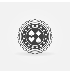 Poker badge or label vector image vector image