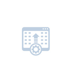 Programming software integration icon on white vector