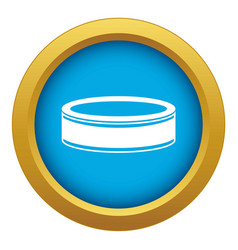 Puck icon blue isolated vector