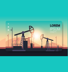 pumpjack petroleum production trade oil industry vector image