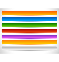 rectangular buttons in several colors button tag vector image