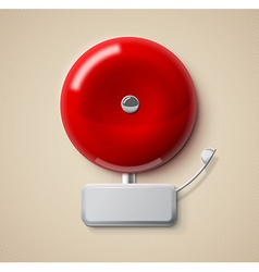 Red alarm bell 3d realistic eps 10 vector