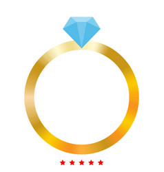 ring icon different color vector image