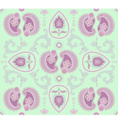 seamless pattern on light-green background vector image