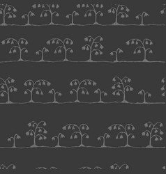 Seamless sketch flowers pattern vector