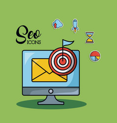 seo and web optimization concept vector image