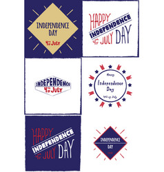 Set cards independence day vector