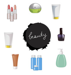 Set of body care products vector