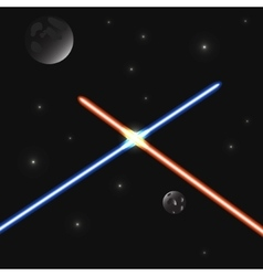 Set of color laser beams vector image