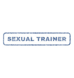 Sexual trainer textile stamp vector