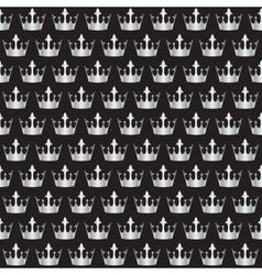 Silver crowns pattern vector