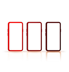 smartphone color set collection mobile display vector image