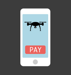 smartphone with drone remote control app vector image vector image