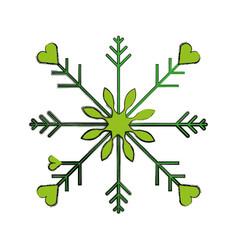 Snowflake christmas decoration icon vector