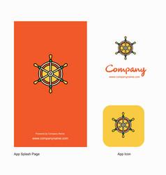 steering company logo app icon and splash page vector image