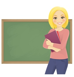 Student with books vector image