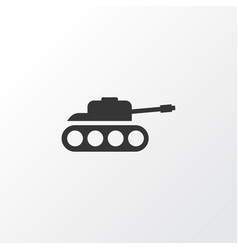 tank icon symbol premium quality isolated panzer vector image