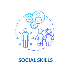 Toddlers social skills concept icon vector