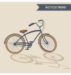 Trendy bike vector image
