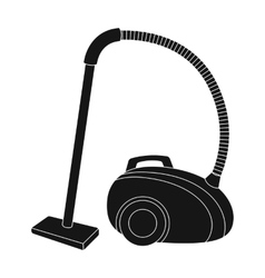 Vacuum cleaner icon in black style isolated on vector image