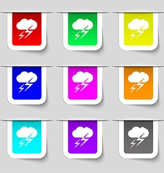 Weather icon sign set of multicolored modern vector