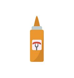 yellow bottle mustard food sauce flat vector image