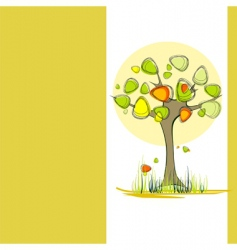 autumn background with tree vector image vector image