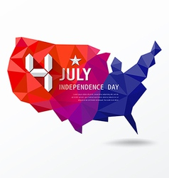 Independence Day map of america geometry vector image vector image