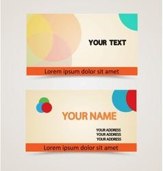 retro vintage business card vector image