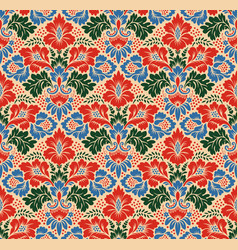 seamless floral pattern in the style of damask vector image