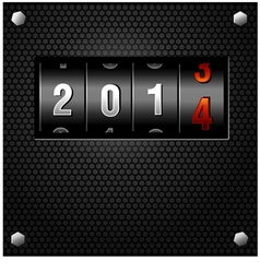 2014 New Year Analog Counter vector image vector image