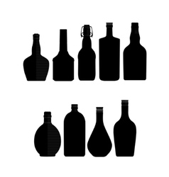 abstract bottles vector image vector image