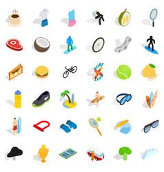 champion icons set isometric style vector image