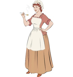 French cook vector image