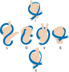 I love you hand vector image