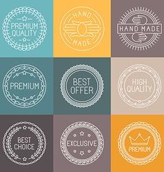 set of premium labels vector image