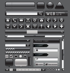 Blank buttons for website vector image