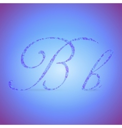 Letters B with Polygonal Pattern vector image